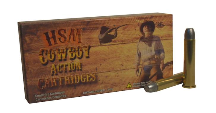 HSM Cowboy Action Ammunition 45-70 Government 405 Grain Hard Cast Flat Nose Triple Lube Groove HSM-45-70-2-N