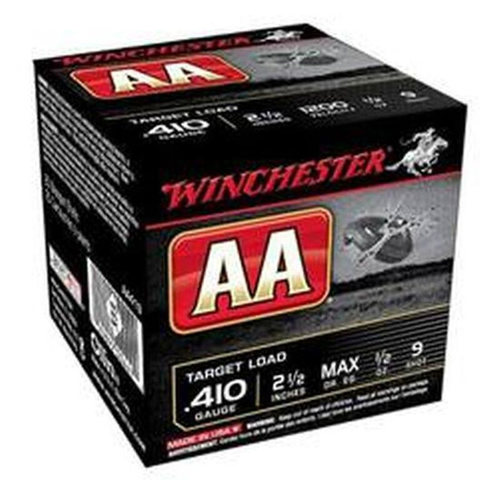 """Winchester AA Target .410 Bore Shot Shells 25 Rounds 2 1/2"""" #9 Lead 1/2 Ounce AA419"""