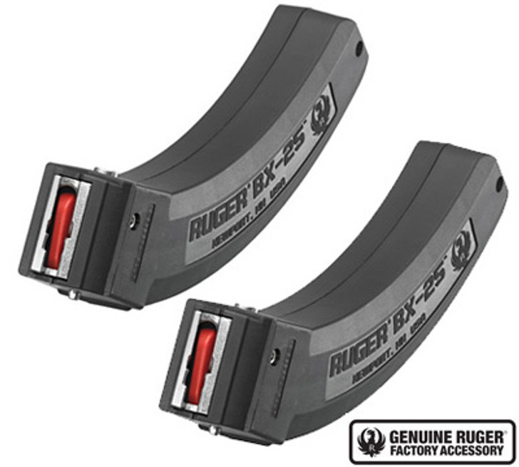 Ruger BX-25 2 Pack 2x25 Rounds Magazines BX-25