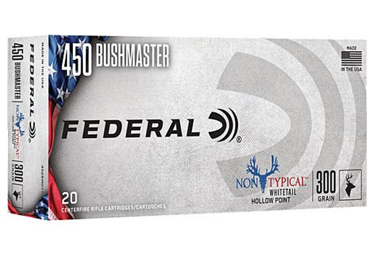 Federal Ammo Non-Typical .450 Bushmaster 300gr 20 Rounds A450BMDT1