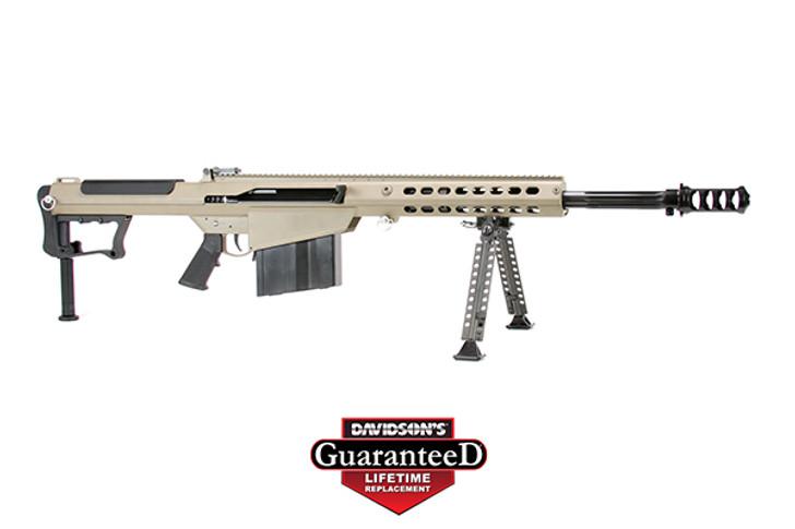 "Barrett M107A1 Semi Auto Rifle .50 BMG 20"" Fluted Barrel 10 Rounds Suppressor Ready Muzzle Brake 18"" Integrated Rail with 27 MOA Elevation FDE Cerakote Receiver 14558"