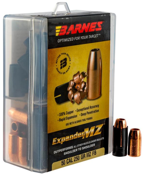 Barnes .50 Caliber Bullets 24 Projectiles Expander MZ FB SCHP 250 Grains 30577