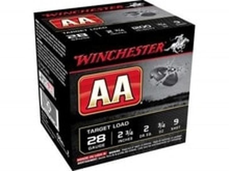 """Winchester 28 Gauge Ammunition AA Target 2-3/4"""" 3/4oz #9 Shot AA289"""