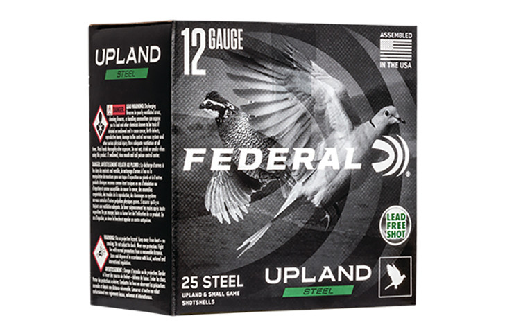 "Federal Upland Steel 12 Gauge Ammunition 25 Rounds 2-3/4"" #6 1-1/8 Ounce Steel Shot 1400 fps USH12-6"