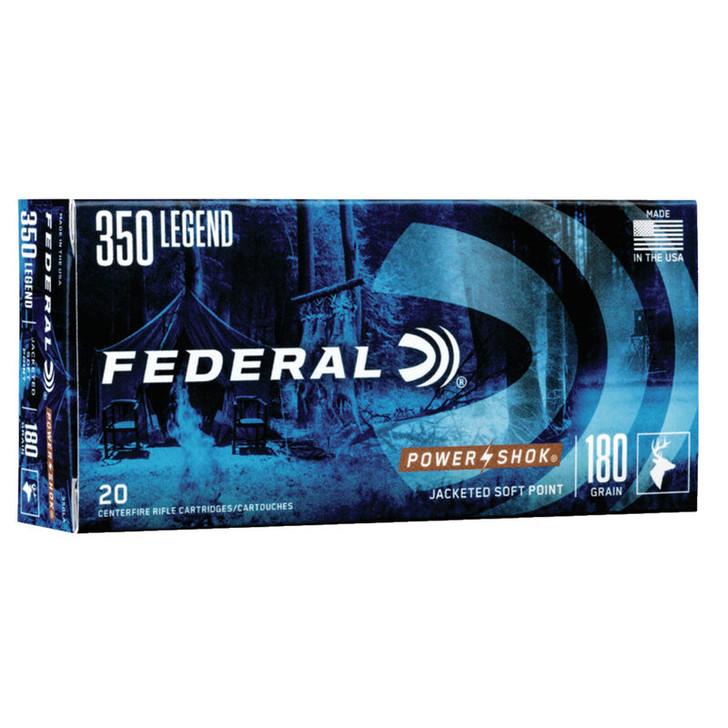 Federal Power-Shok 350 Legend Ammunition 180 Grain JSP Bullet 2100 fps 350LA
