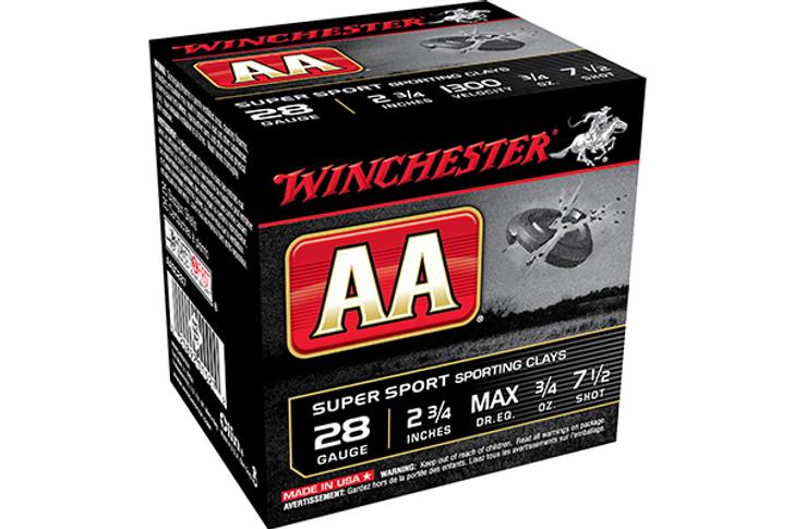 "Winchester 28 Gauge Ammunition AA Super Sport AASC287 2-3/4"" 7.5 Shot 3/4oz 1300fps AASC287"