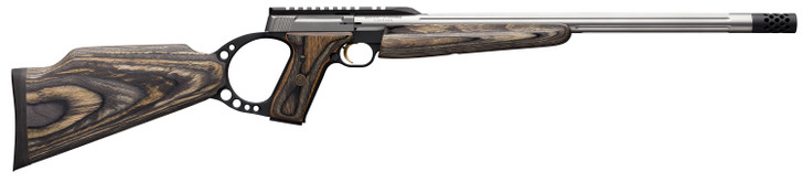 Browning Buck Mark Target Semi-Automatic .22 LR 18.5 10+1 Laminate Gray Stock Stainless Steel 021046202