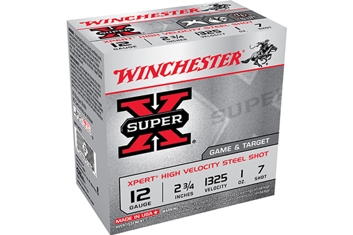 "Winchester Super X Expert 12 Gauge Shot Shells 25 Rounds 2 3/4"" #7 Steel 1 Ounce WE12GT7"
