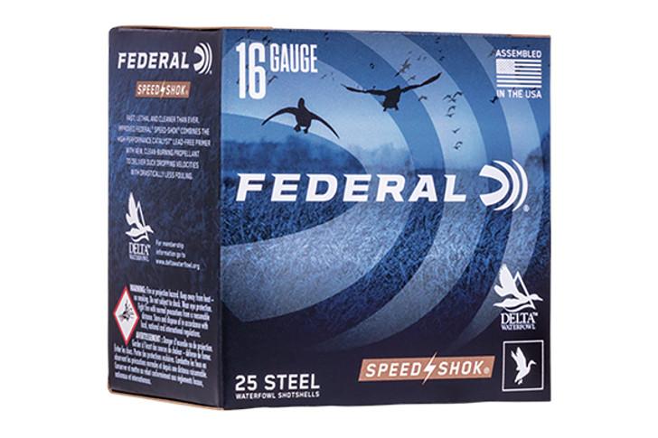 "Federal WF1682 Speed-Shok Waterfowl 16ga 2.75"" 1.3oz #2 WF168-2"