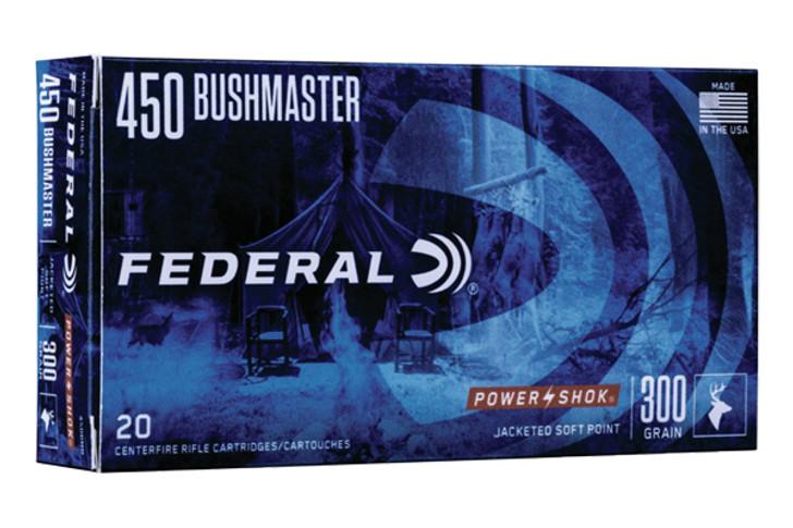 Federal Power Shok 450 Bushmaster 300gr 20 Round Box 450BMB