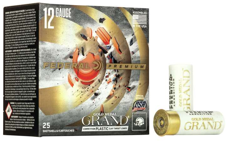 Federal Gold Medal Grand Comp. Plastic Clay Target Loads 12ga GMT114-8