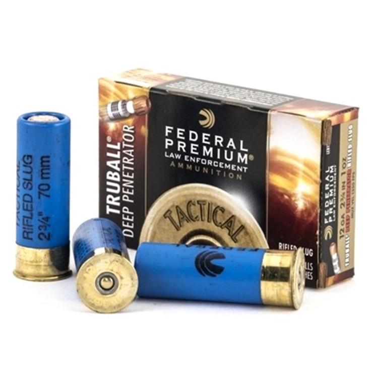 "Federal Law Enforcement 12 Gauge Ammo 2-3/4"" 1oz Tactical® TruBall® Deep Penetrator Rifled Slug LEB127 DPRS"