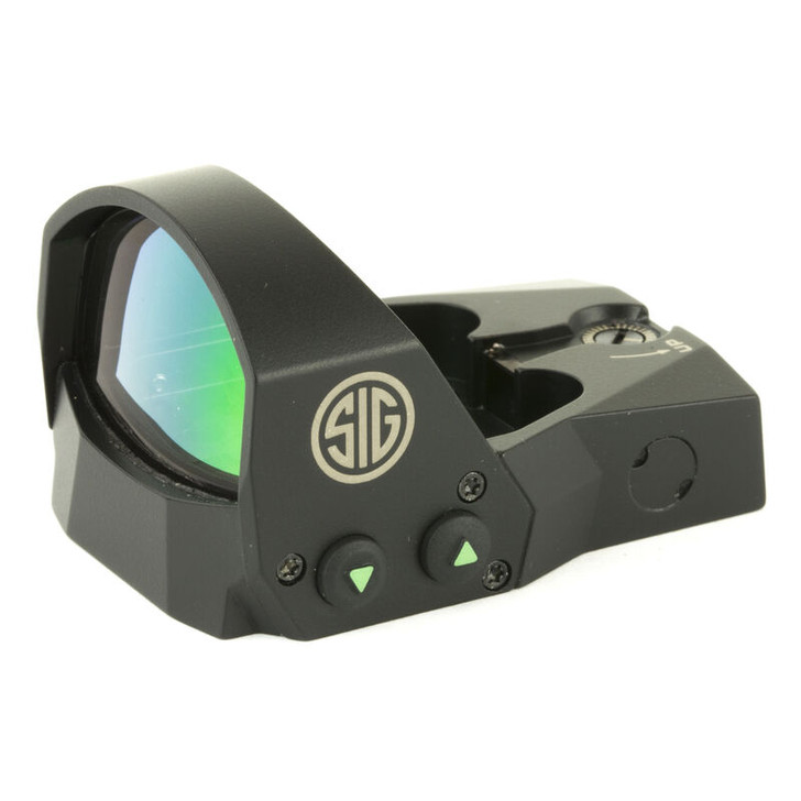 SIG Sauer Romeo1 1x30 Reflex Sight 6 MOA Red Dot Reticle 1 MOA Adjustments CR1632 Battery Sight Only Black SOR11600