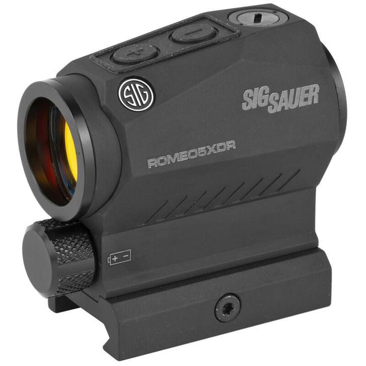 Sig Sauer ROMEO5 XDR Compact Red Dot Sight, 1x20mm, 0.5 MOA, 2 MOA Red Dot/65 MOA Circle Dot, 1 x AAA Battery, Picatinny/Co-Witness Mounts, Black, SOR52102