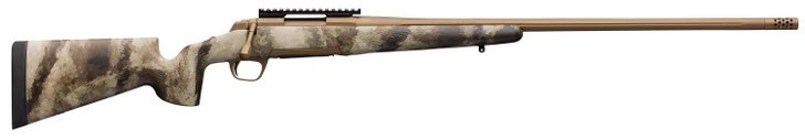 """Browning X-Bolt Hell's Canyon Long Range Bolt Action Rifle 7mm Rem Mag 26"""" Barrel 3 Rounds McMillian Stock A-TACS AU Camo/Burnt Bronze 035395227"""