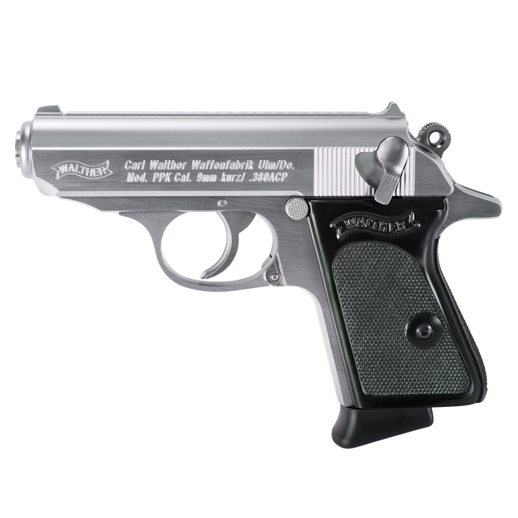 """Walther Arms PPK Stainless Steel SA/DA .380 ACP 3.3"""" 6+1 4796001"""