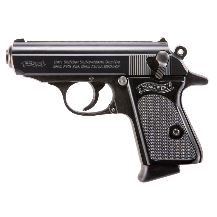 """Walther Arms PPK Blackened Stainless Steel SA/DA .380 ACP 3.3"""" 7+1 4796002"""