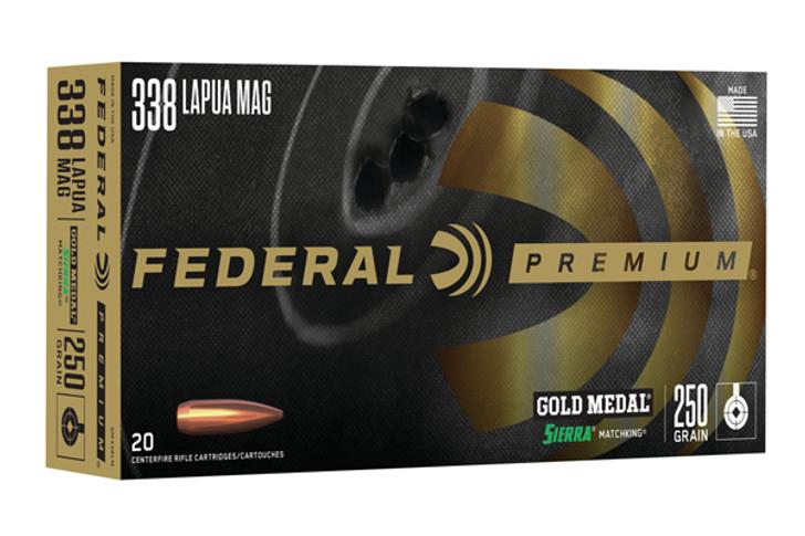 Federal Gold Medal Match .338 Lapua 250GR SMK BTHP 20RDS GM338LM