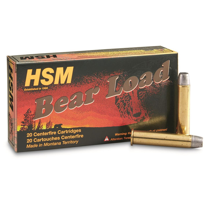 HSM Bear Ammunition 460 S&W Magnum 325 Grain Lead Wide Flat Nose Gas Check Box of 20 460SW-4-N