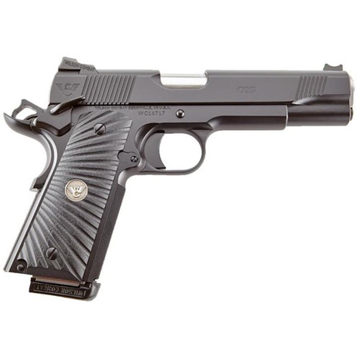 "Wilson Combat CQB 1911 Semi Automatic Handgun .45 ACP 5"" Barrel 8 Rounds Starburst G10 Grips Armor Tuff Black Finish CQB-FS-45A"