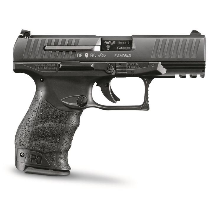 "Walther PPQ M2 9mm 4"" 15+1 Black Black Polymer Grip 2796066"