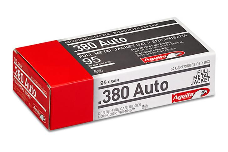 Aguila 380 Auto 95 Grain Full Metal Jacket 50 Rounds 1E802110