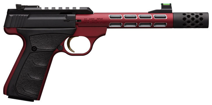 "Browning Buck Mark Plus Vision 22 LR 5.87"" Barrel Anodized Red UFX Rubber Overmolded Grip 10RD 051563490"