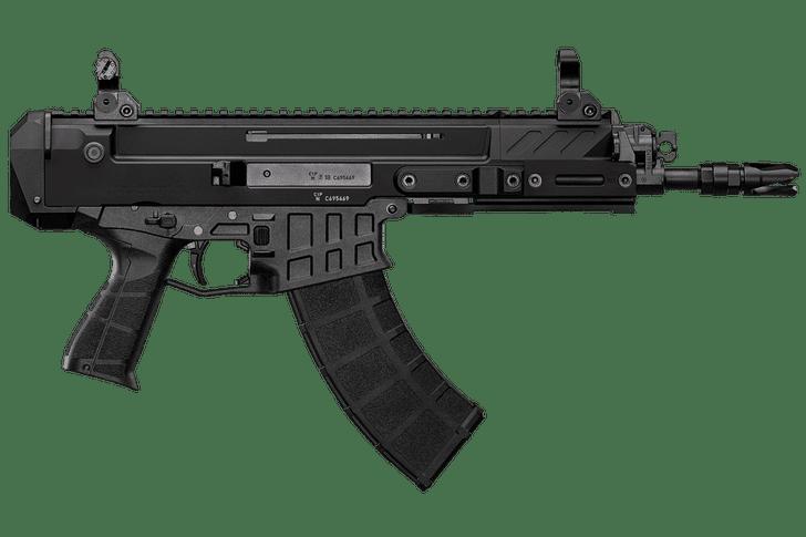 "CZ Bren 2 Ms 5.56 NATO Semi Auto Pistol 8"" Barrel 30 Rounds AR-15 Magazine Compatible Aluminum Upper/Polymer Lower Matte Black Finish 91450"