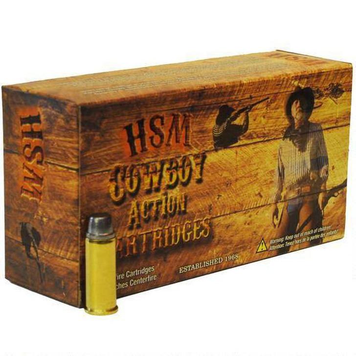 HSM Cowboy Action Ammunition 44 Remington Magnum 200 Grain Hard Cast Lead Round Nose Flat Point HSM-44M-11-N