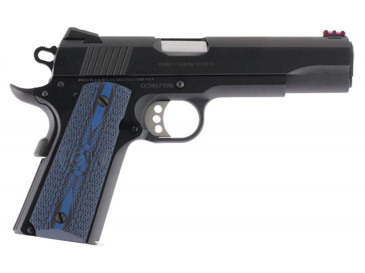 "Colt Competition Series 70 Government 1911 .45 ACP 5"" 8+1 Blue G10 w/Logo Grip Blued Carbon Steel 01970CCS"