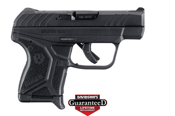 """Ruger LCP II Semi Auto Pistol .380 ACP 2.75"""" Barrel 6 Rounds Integral Sights High Performance Glass Filled Nylon Polymer Frame Steel Slide Matte Black Finish 3750"""