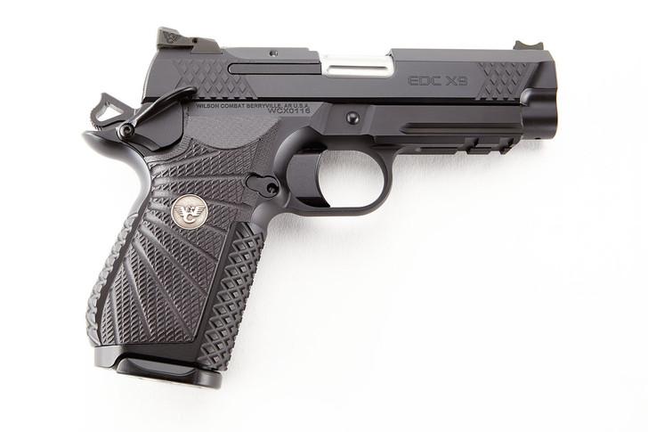 "Wilson Combat EDC X9 1911 9mm 15 Round 4"" Pistol w/ Lightrail Frame Black EDCX-CPR-9A"
