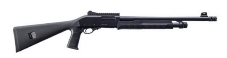 "EUROPEAN AMERICAN ARMORY Churchill 612 Tactical 12 GA 18.50"" 3"" Blued Black Pistol Grip Synthetic Stock Right Hand 111380"