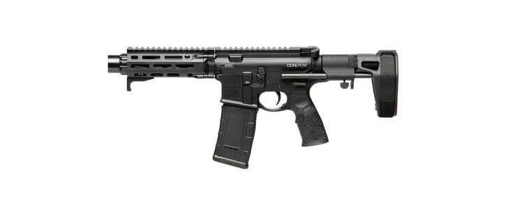 "Daniel Defense DDM4® PDW .300 AAC Blackout Pistol 7"" Barrel Length 30 Rounds MFR XL 6.0 Free Float Hand Guard Maxim Defense CQB Pistol Brace Matte Black 02-088-22070"