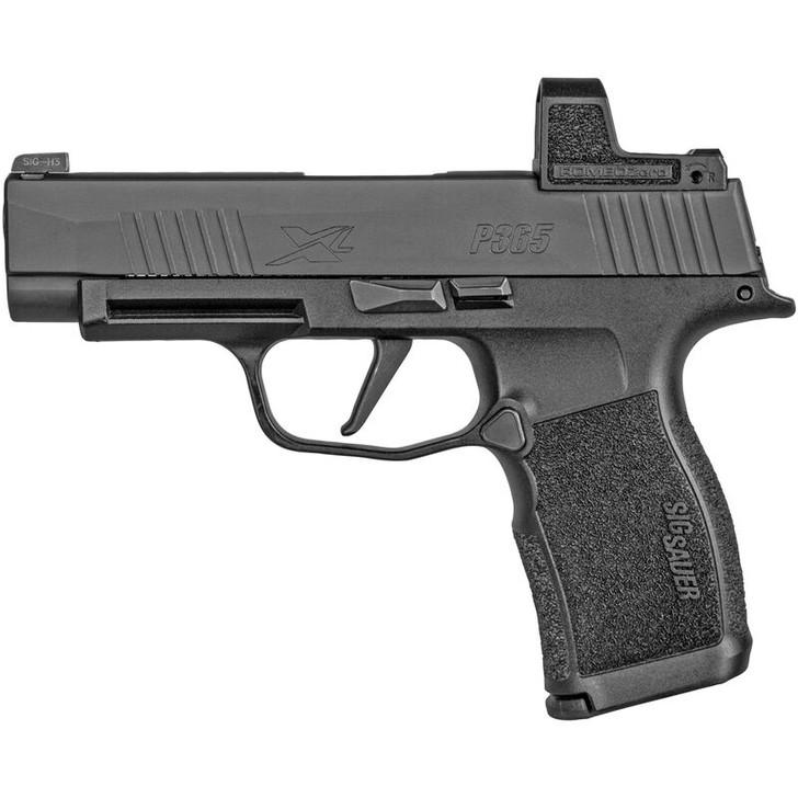 "SIG Sauer P365 XL 9mm Semi Auto Pistol 3.7"" Barrel 12 Rounds Tritium Night Sights with Romeo Zero 3 MOA Red Dot Polymer Frame Black 365XL-9-BXR3-RXZ"