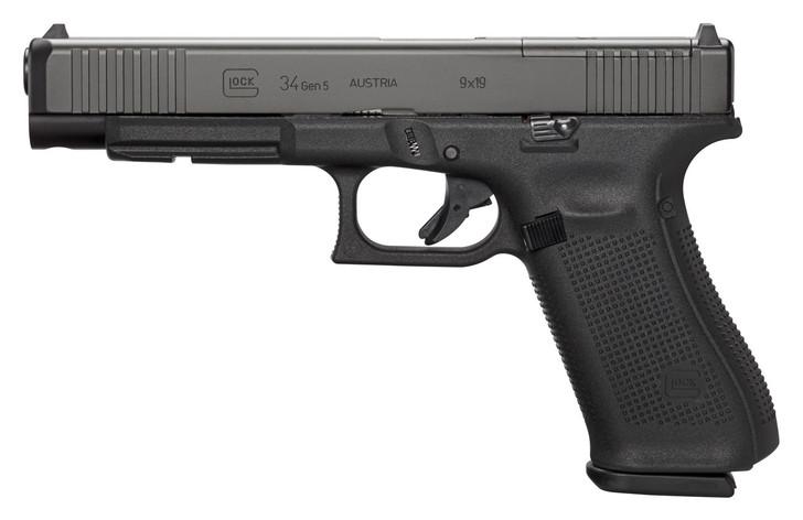 """Glock 34 MOS Gen5 9mm 17rd 5.31"""" Pistol PA343S103MOS"""