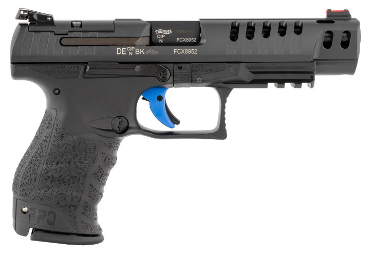 "Walther Arms PPQ Q5 M2 Match 9mm 5"" Barrel 15+1 Round Black Tenifer Slide Black Polymer Grip 2846926"