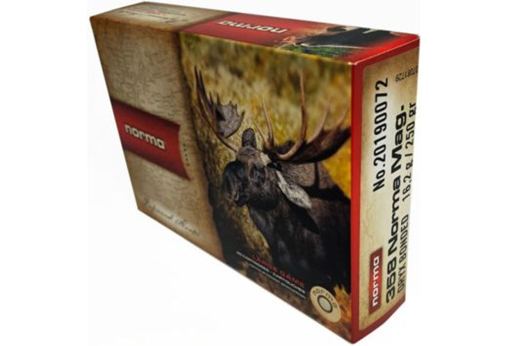 Norma American PH Ammunition 358 Norma Magnum 250 Grain Oryx Protected Point 20 Rounds 20190072