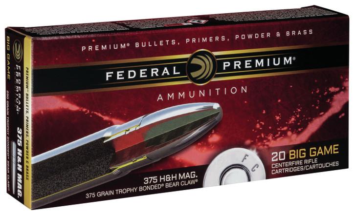Federal Premium Trophy Bonded Bear Claw 375 H&H Magnum 250GR P375T4