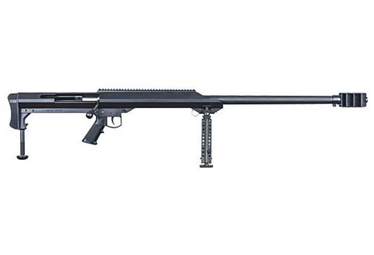 "Barrett Model 99 Bolt Action Rifle .50 BMG 32"" Heavy Barrel Single Shot Muzzle Brake Optics Rail Bipod Black 13307"