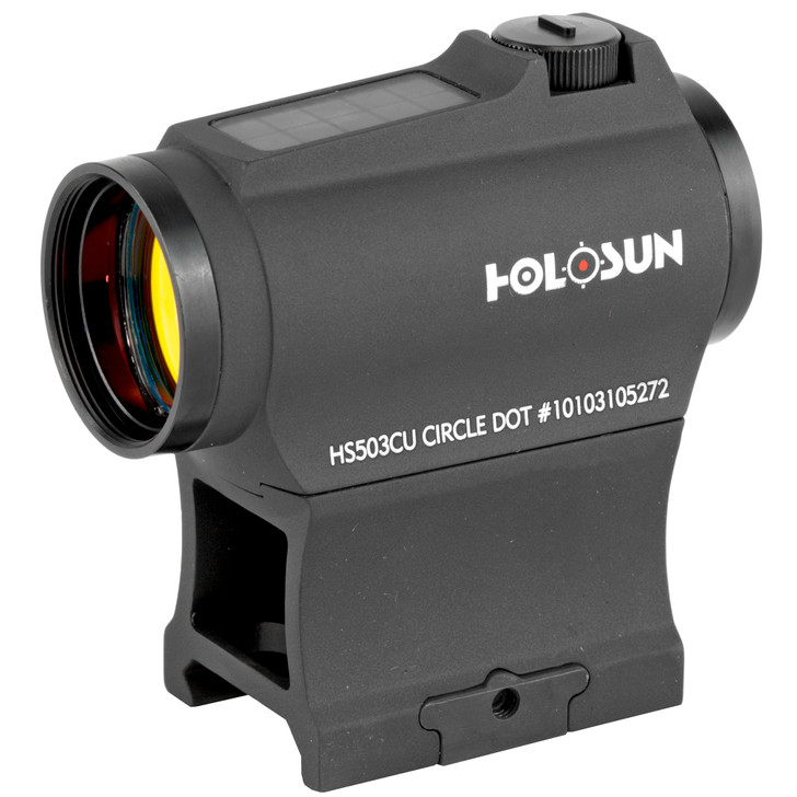 Holosun Red Dot Sight 1x 20mm 65 MOA Circle with 2 MOA Dot Picatinny Low and Lower 1/3 Co-Witness Mounts Matte HS503CU