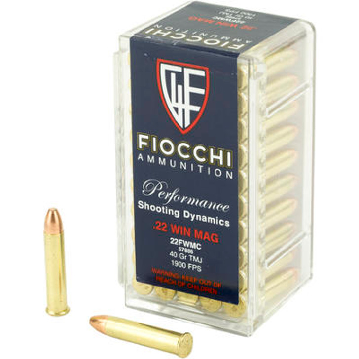 Fiocchi Performance Shooting Dynamics 22 Mag 40GR TMJ 50 Rounds 22FWMC