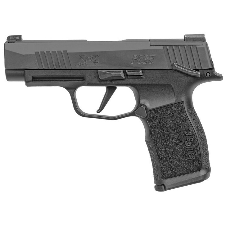 "SIG Sauer P365 XL 9mm Luger Semi Auto Pistol 3.7"" Barrel 12 Rounds Day/Night Sights Optics Ready Manual Safety Polymer Grip Frame Black Finish 365XL-9-BXR3-MS"