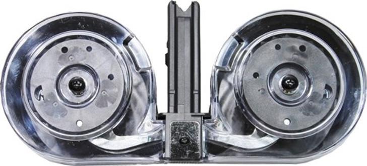 Iver Johnson AR-15 Drum Magazine .223 Rem/5.56 NATO 100 Rounds Steel/Polymer Black/Translucent AR15100BLK