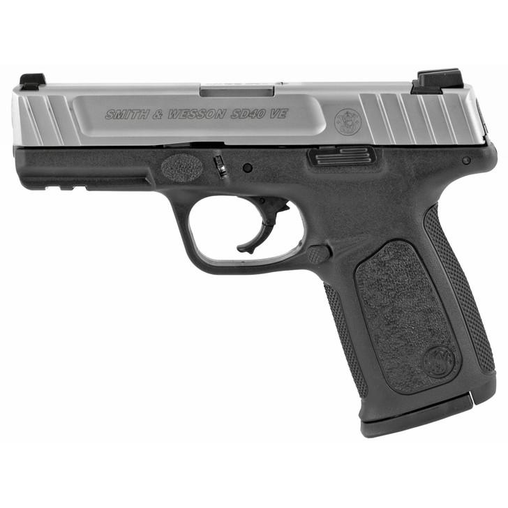 "Smith & Wesson SD40VE Full Size 40 S&W 4"" Barrel Polymer Frame Black Frame Silver Slide 14 Rounds 223400"