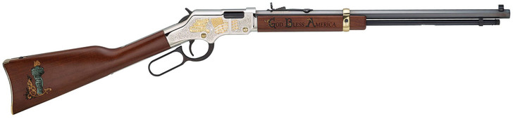 Henry God Bless America Edition Golden Boy .22 S/l/lr Lever Action Rifle, Brown H004GBA