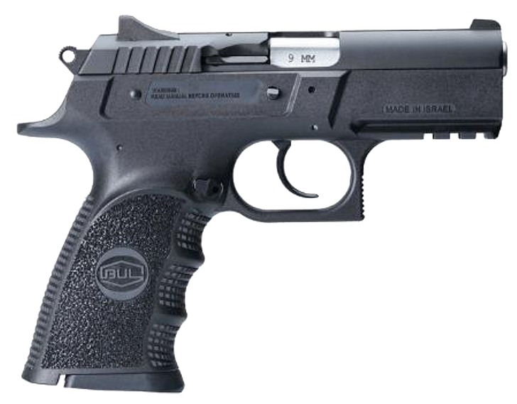"""Bul Armory Cherokee Compact 9mm Luger 3.66"""" 17+1 Rounds Black Oxide Steel Slide 30101CH"""