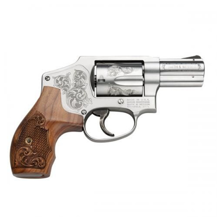 """Smith & Wesson 640 357 Magnum 2.125"""" Barrel 5 Shot Machine Engraved with Collectors Case 150784"""