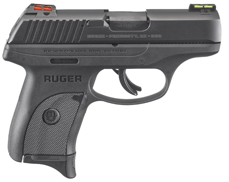 """Ruger LC9s 9mm Double Action 3.12"""" Barrel 7+1 Rounds Fiber Optic Sights 3270"""