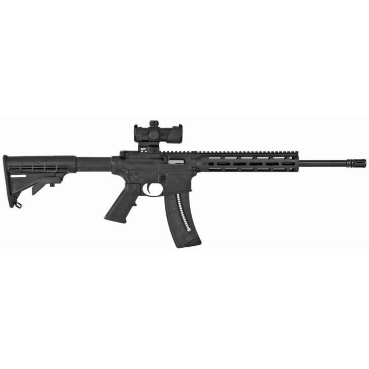"Smith & Wesson M&P15-22 Semi-Auto AR 22LR 16.5"" Threaded Barrel 25 Round 10"" M&P Slim Handguard Magpul M-LOK MP100 4MOA Red/Green Dot Optic 12722"